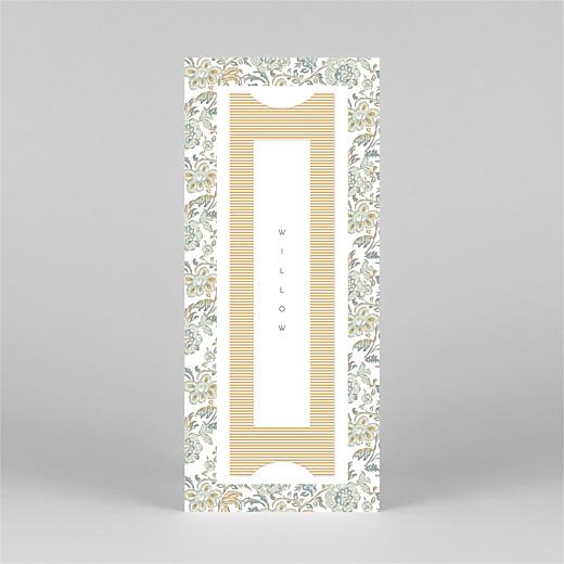 宝贝谢谢卡片维多利亚时代的花朵(书签)蓝色 - 查看4