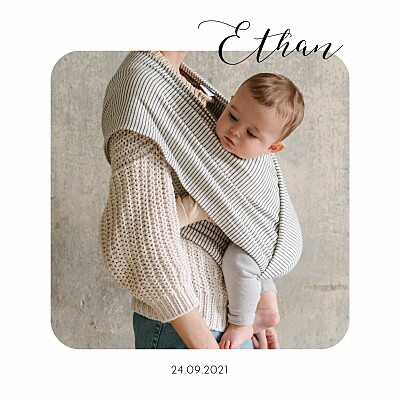 Baby Announcements Tender moments white finition