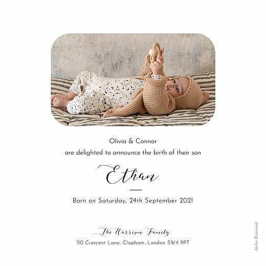 Baby Announcements Tender moments white - Page 2