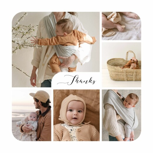 Baby Thank You Cards Tender moments photos