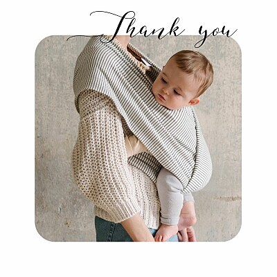 Baby Thank You Cards Tender moments white finition