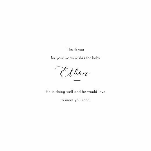 Baby Thank You Cards Tender moments white - Page 3