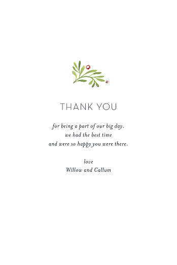 Wedding Thank You Cards Forest whisper (4 pages) green - Page 3