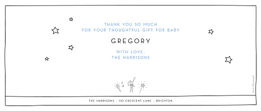 Baby Thank You Cards Panoramic pictos 3 photos white - Page 2