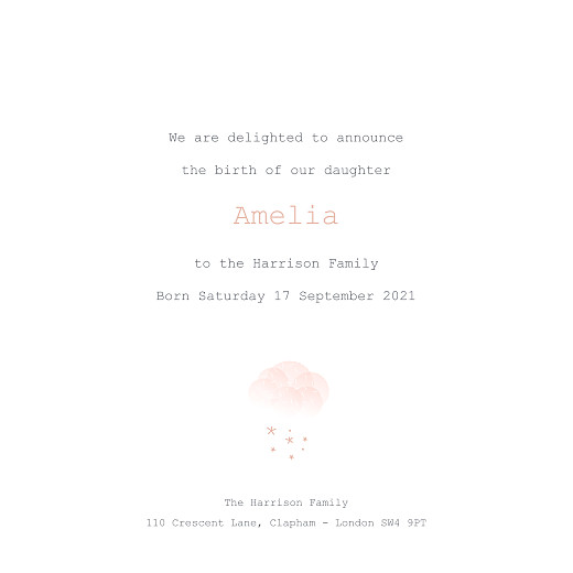 Baby Announcements Mist (foil) pink orange - Page 3