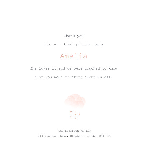 Baby Thank You Cards Mist (foil) pink orange - Page 3