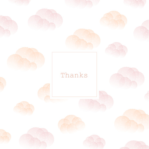 Baby Thank You Cards Mist (foil) pink orange - Page 1