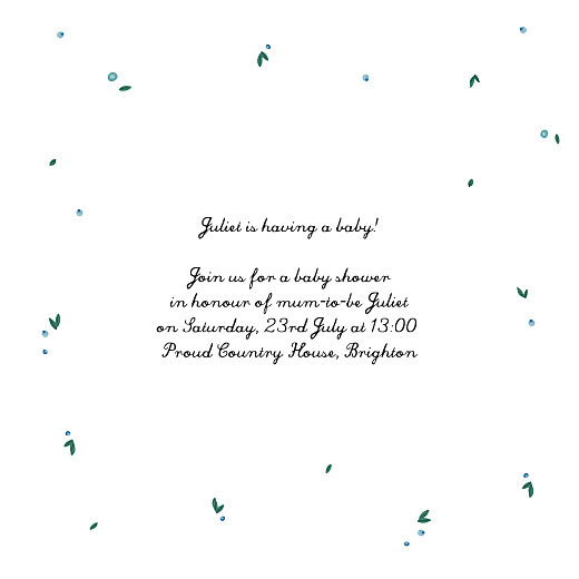 Baby Shower Invitations Stork blue - Page 3