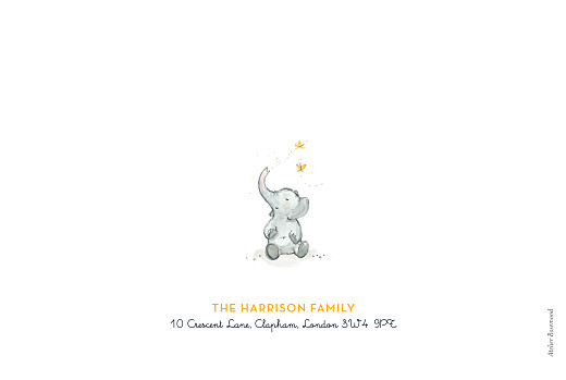 Baby Shower Invitations Elephant family yellow - Page 4