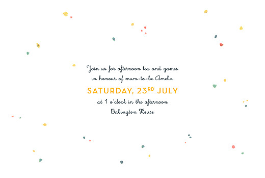 Baby Shower Invitations Elephant family yellow - Page 3
