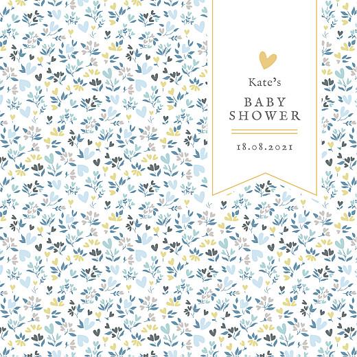 Baby Shower Invitations Liberty heart blue