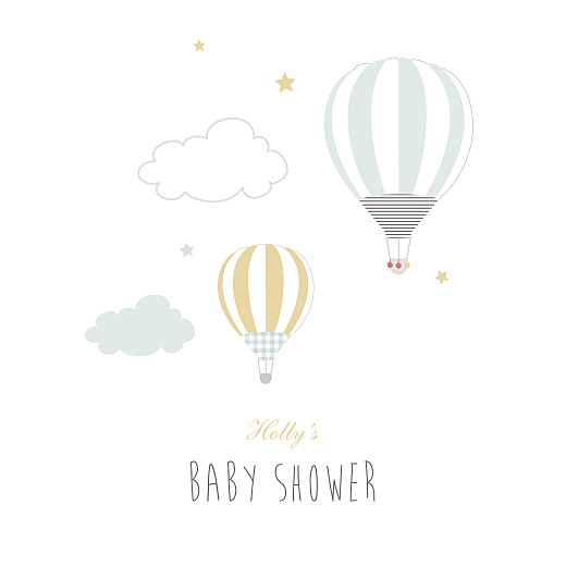 Baby Shower Invitations Up and away blue