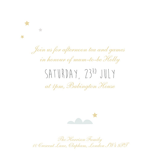 Baby Shower Invitations Up and away blue - Page 3