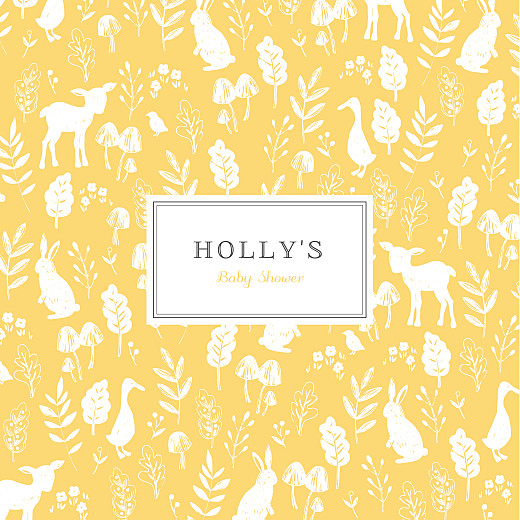 Baby Shower Invitations Fable yellow