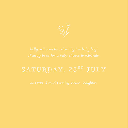 Baby Shower Invitations Fable yellow - Page 3