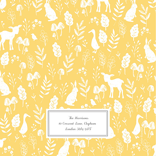 Baby Shower Invitations Fable yellow - Page 4