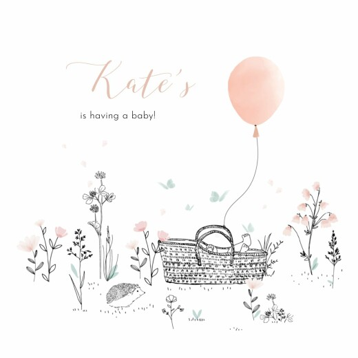 Baby Shower Invitations Melody pink