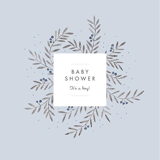 Baby Shower Invitations Jubilation blue