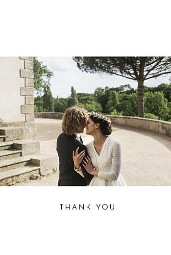 Wedding Thank You Cards Foil frame minimalist white