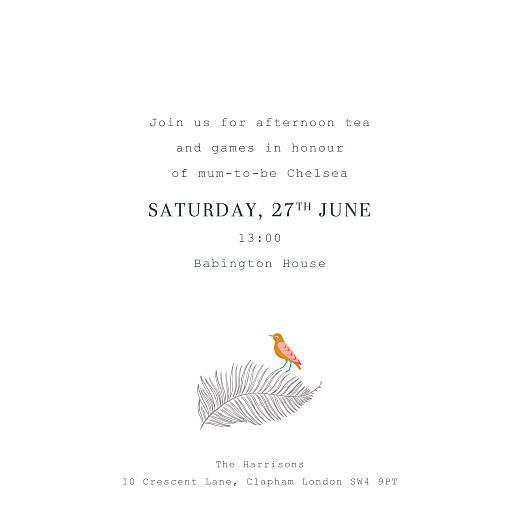 Baby Shower Invitations Birds of paradise white - Page 3