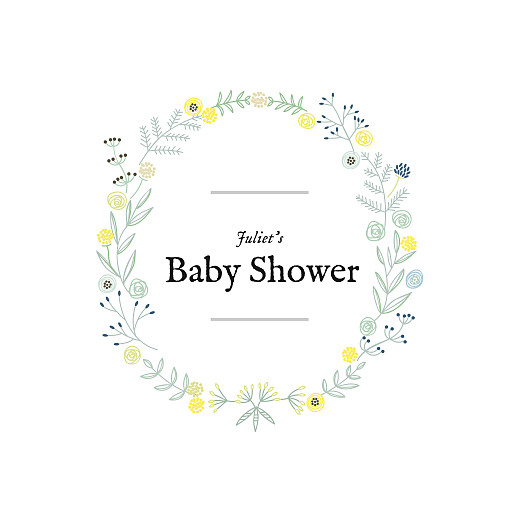 Baby Shower Invitations Rustic floral green