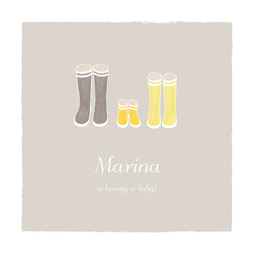 Baby Shower Invitations Wellies yellow