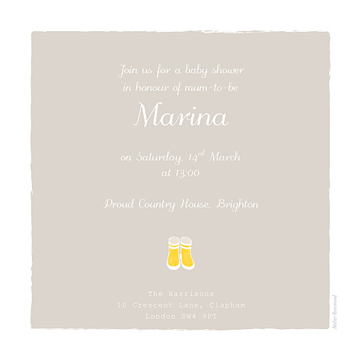 Baby Shower Invitations Wellies yellow - Page 2