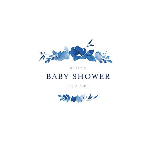 Baby Shower Invitations English garden blue