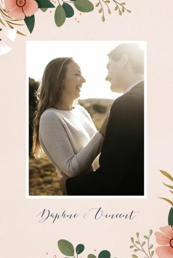婚礼请柬达芙妮照片春天
