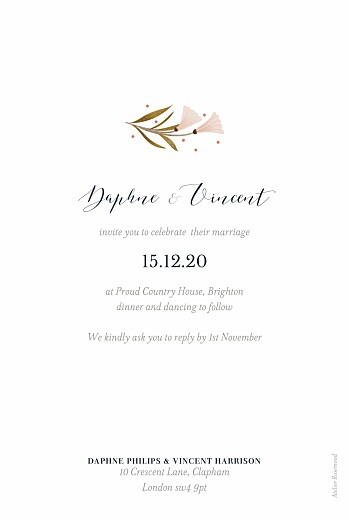 Wedding Invitations Daphne photo spring - Page 2