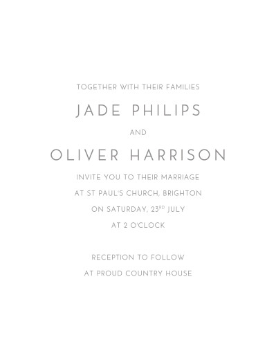 Wedding Invitations Classic modern white