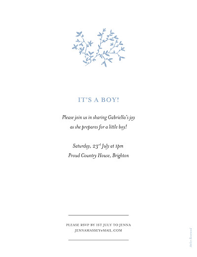 Baby Shower Invitations Reflections blue - Page 2