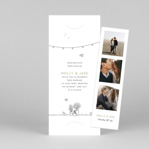 Wedding Invitations Bohemian promise (bookmark) white - View 1