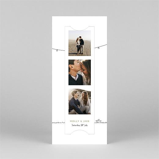 Wedding Invitations Bohemian promise (bookmark) white - View 2