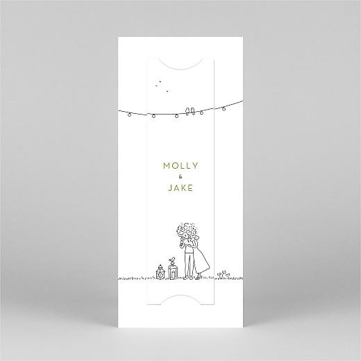 Wedding Invitations Bohemian promise (bookmark) white - View 3