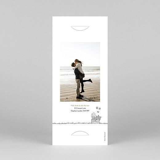 Wedding Invitations Bohemian promise (bookmark) white - View 4