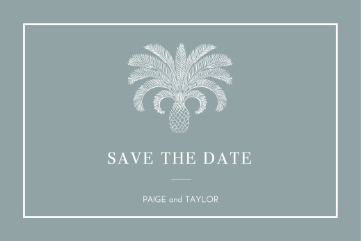 Save The Date Cards Paradise blue