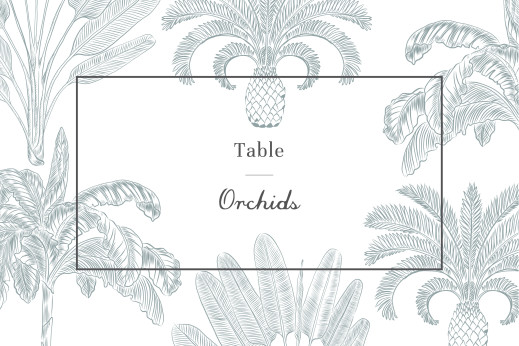 Wedding Table Numbers Paradise blue