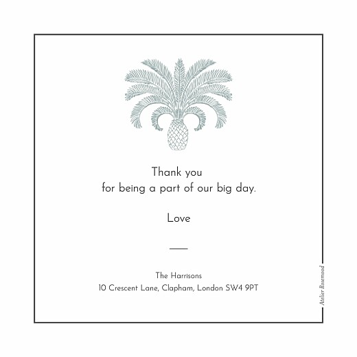 Wedding Thank You Cards Paradise blue - Page 3