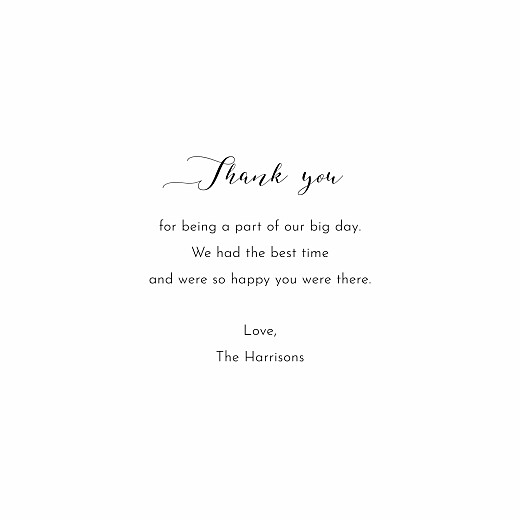 Wedding Thank You Cards Tender moments white - Page 3