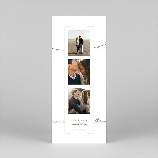 Save The Date Cards Bohemian promise (bookmark) white - View 2