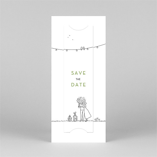 Save The Date Cards Bohemian promise (bookmark) white - View 3