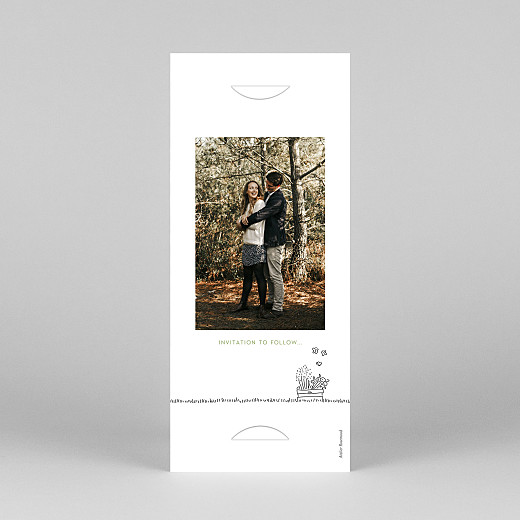 Save The Date Cards Bohemian promise (bookmark) white - View 4