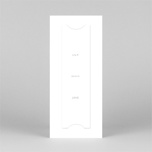 Save The Date Cards Lovely heart (bookmark) white - View 3