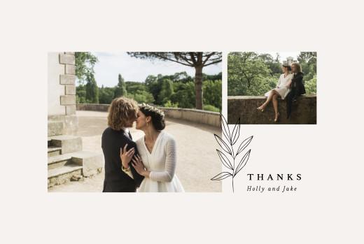 Wedding Thank You Cards Budding branch beige