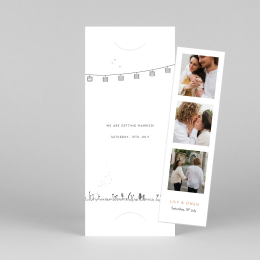 Save The Dates Rustic promise (bookmark) white - View 1
