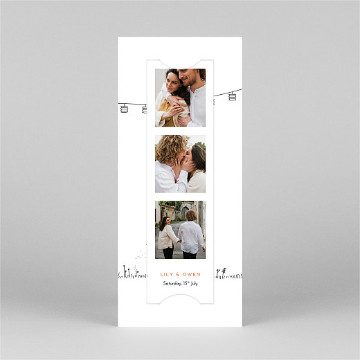 Save The Dates Rustic promise (bookmark) white - View 2