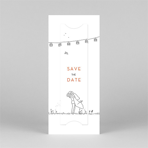Save The Dates Rustic promise (bookmark) white - View 3