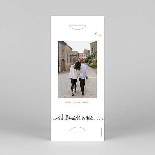 Save The Dates Rustic promise (bookmark) white - View 4
