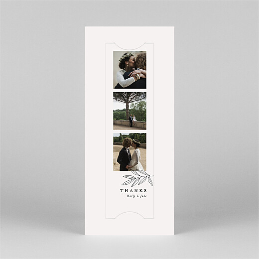 Wedding Thank You Cards Budding branch (bookmark) beige - View 2